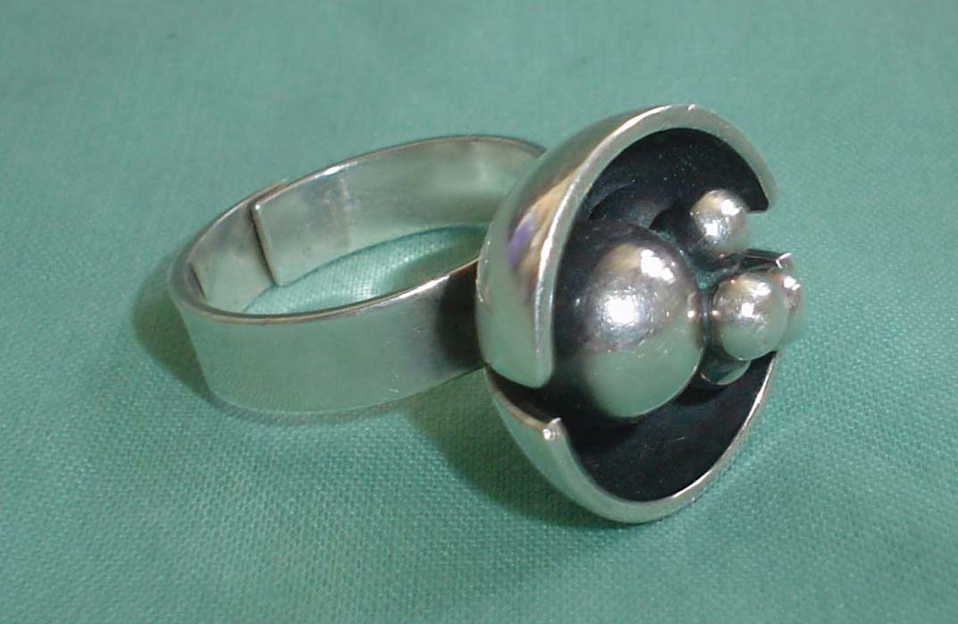 Finland silver mid-century modernist design jewellery ...